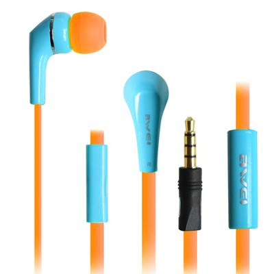 Awei Q7i Oranje Blauw Headset Apple iPhone 6, 5, 4, 3 en iPad