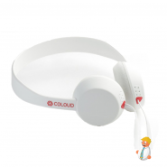 Coloud Knock Wit/Rood koptelefoon headset