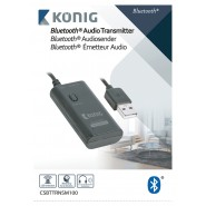 Audiozender Bluetooth 3.5 mm Zwart