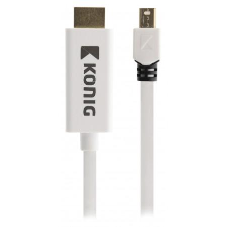 Mini DisplayPort Kabel Mini-DisplayPort Male - HDMI-Connector 2.00 m Wit