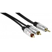 Audio kabel 3.5mm stereo - 2x RCA mannelijk connector 1,50 m