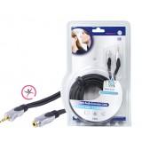 Stereo Audio Verlengkabel 3.5 mm Male - 3.5 mm Female 10.0 m Donkergrijs
