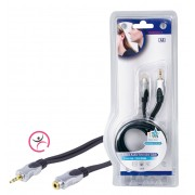 Stereo Audio Verlengkabel 3.5 mm Male - 3.5 mm Female 1.50 m Donkergrijs
