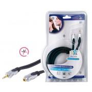 Stereo Audio Verlengkabel 3.5 mm Male - 3.5 mm Female 5.00 m Donkergrijs