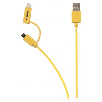 Micro Usb lightning kabel geel