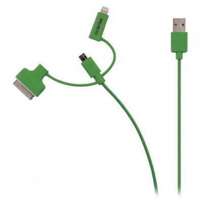 Micro usb, lightning, 30pins kabel voor Apple