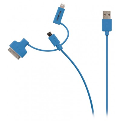 Apple 30pins en lightning usb kabel Blauw