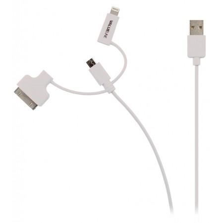 Apple iPhone, iPad, iPod laadkabel wit