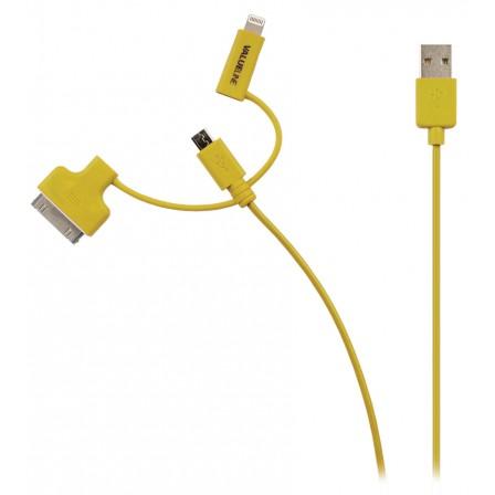 Apple 30pins en lightning usb kabel Geel