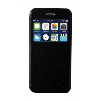 Apple iPhone 6 flipcase PU Leather Zwart