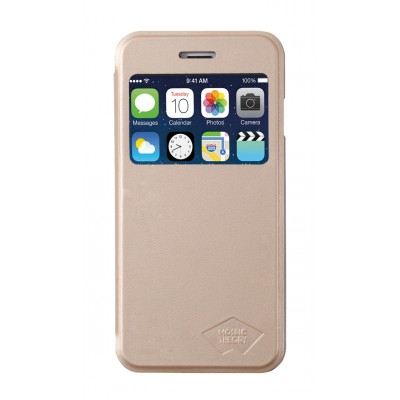 iPhone 6 flipcase PU Leather Gold