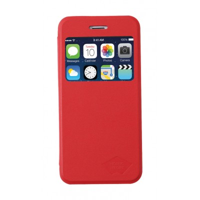 Apple iPhone 6 flipcase PU Leather Rood