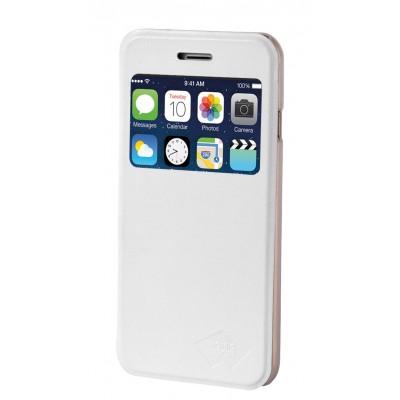 Apple iPhone 6 flipcase PU Leather Wit
