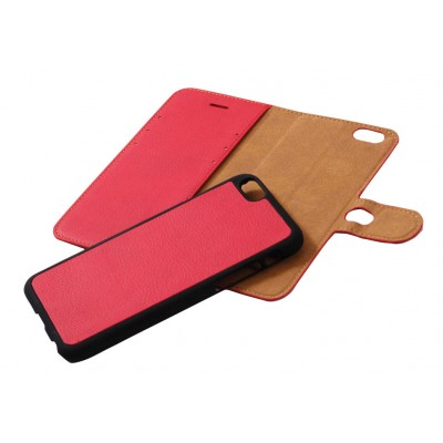 iPhone 6 hoesje + back cover paars leer