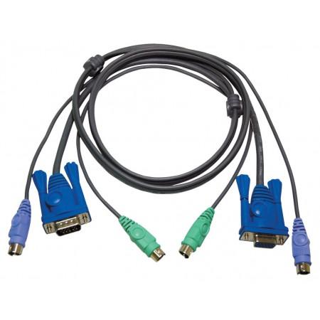 KVM kabel VGA + PS/2 1,80 m