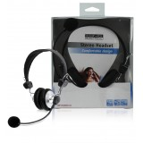 Headset On-Ear 2x 3.5 mm Ingebouwde Microfoon Zwart  bestellen zonder verzendkosten König