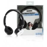 Headset Opvouwbaar On-Ear 2x 3.5 mm Ingebouwde Microfoon Zwart  bestellen zonder verzendkosten König