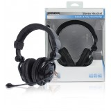 Headset Over-Ear 2x 3.5 mm Ingebouwde Microfoon Zwar