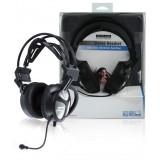 Headset Over-Ear USB Ingebouwde Microfoon Zwart  bestellen zonder verzendkosten König