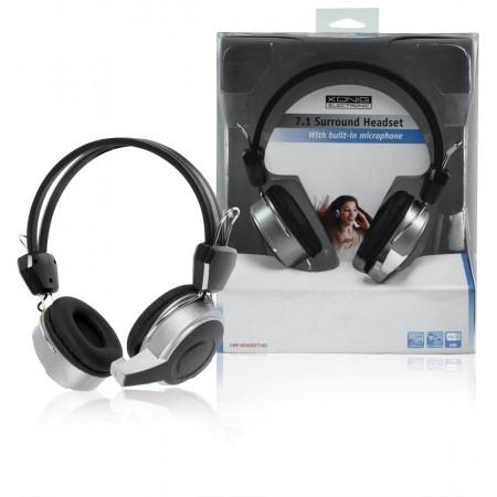 Headset On-Ear USB Bedraad Ingebouwde Microfoon Zwart
