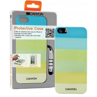 iPhone 5 hard cover case met stylus en screen protector groentinten