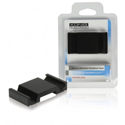 Universele aluminium smartphonehouder zwart