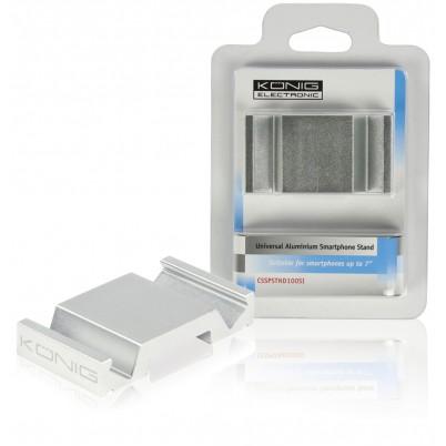 Universele aluminium smartphonehouder zilver