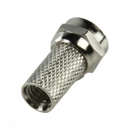 F-Connector 6.0 mm Male Metaal Zilver