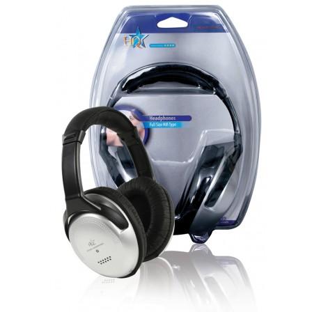 Hoofdtelefoon Over-Ear 3.5 mm 6 m Zilver/Zwart