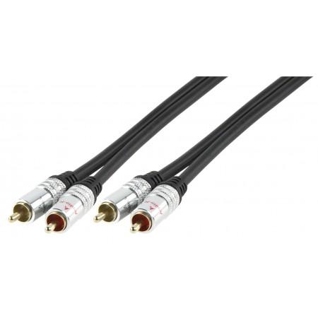 Audio kabel 2x RCA mannelijk - 2x RCA mannelijk 0,75 m