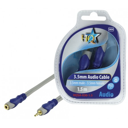 Stereo Audio Verlengkabel 3.5 mm Male - 3.5 mm Female 1.50 m Grijs