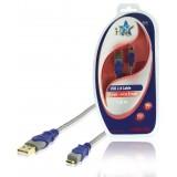 USB 2.0 Kabel A Male - Micro-B Male 1.80 m Grijs