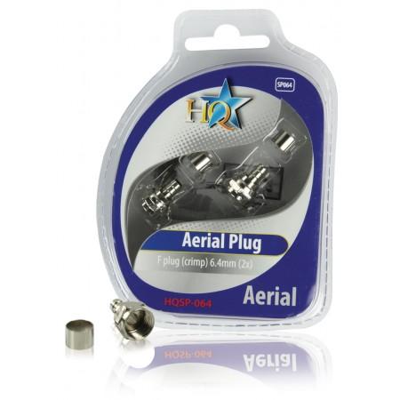 F-Connector 6.4 mm Male Metaal Zilver