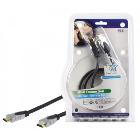 High Speed HDMI Kabel HDMI-Connector - HDMI-Connector 1.00 m Donkergrijs