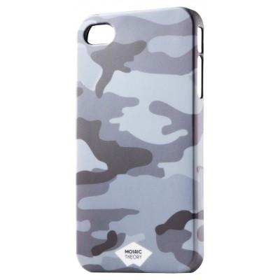 Grijze camouflage rubber hoes Apple iPhone 4s en 4