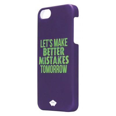 paarse imitatie rubber hoes voor Apple iPhone 5 en 5S