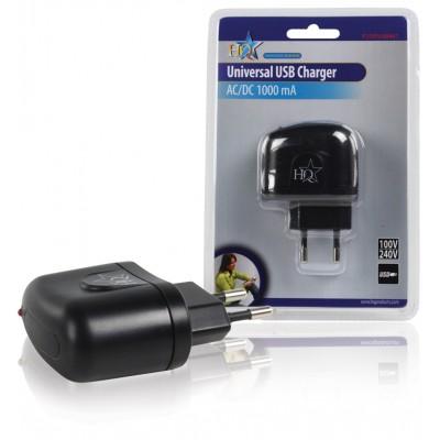 Lader 1 - Uitgang 1.0 A USB Zwart