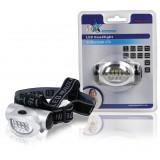 Hoofdlamp 10 LED Zilver / Zwart