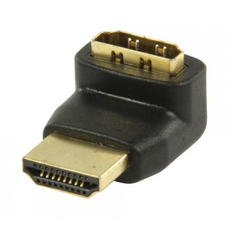High Speed HDMI met Ethernet Adapter 270° Gehoekt HDMI-Connector - HDMI-Ingang Zwart