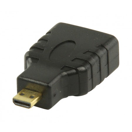 High Speed HDMI met Ethernet Adapter HDMI Micro-Connector Male - HDMI-Ingang Zwart