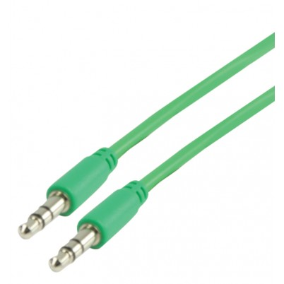 Stereo Audiokabel 3.5 mm Male - 3.5 mm Male 1.00 m Groen