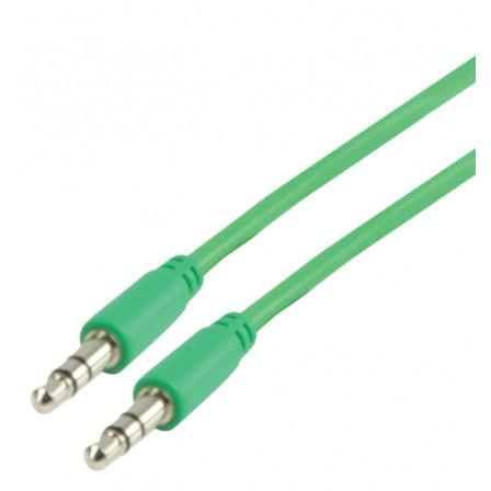 Stereo Audiokabel 3.5 mm Male - 3.5 mm Male 1.00 m Groen