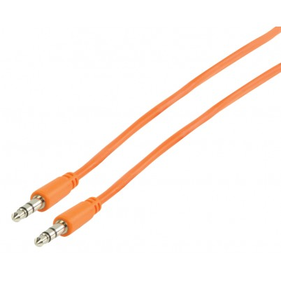 Stereo Audiokabel 3.5 mm Male - 3.5 mm Male 1.00 m Oranje