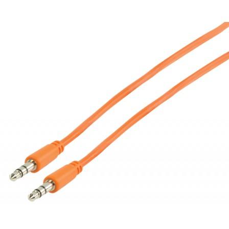 Stereo Audiokabel 3.5 mm Male - 3.5 mm Male 1.00 m Oranje