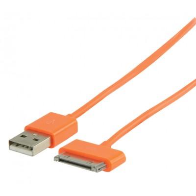 Data en Oplaadkabel Apple Dock 30-Pins - A Male 1.00 m Oranje
