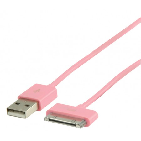 Data en Oplaadkabel Apple Dock 30-Pins - A Male 1.00 m Roze