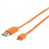 USB 2.0 Kabel A Male - Micro-B Male Plat 1.00 m Oran
